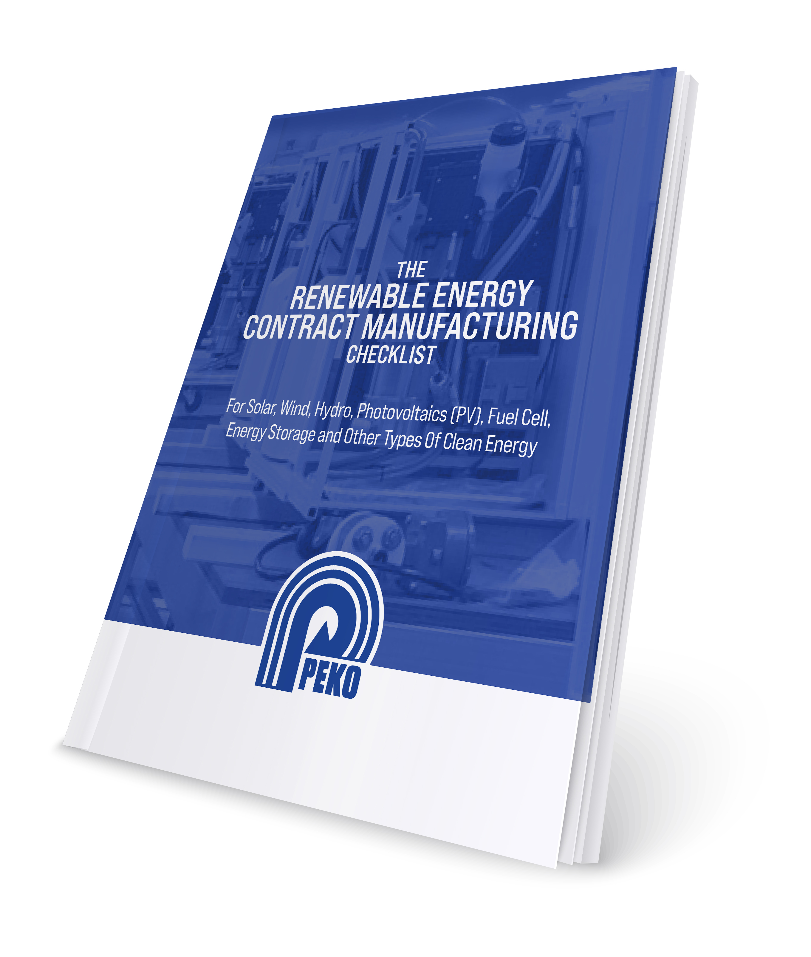 RenewableEnergy Contract manufacturing checklist cover
